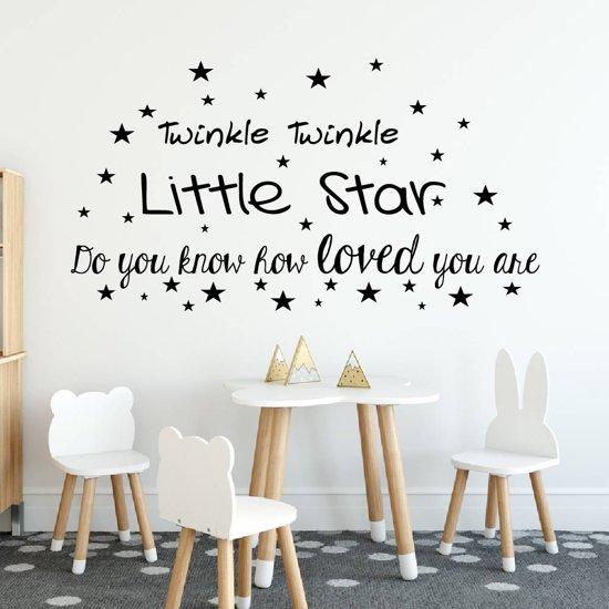 Twinkle Twinkle Little Star -  Groen -  160 x 86 cm  - Muursticker4Sale