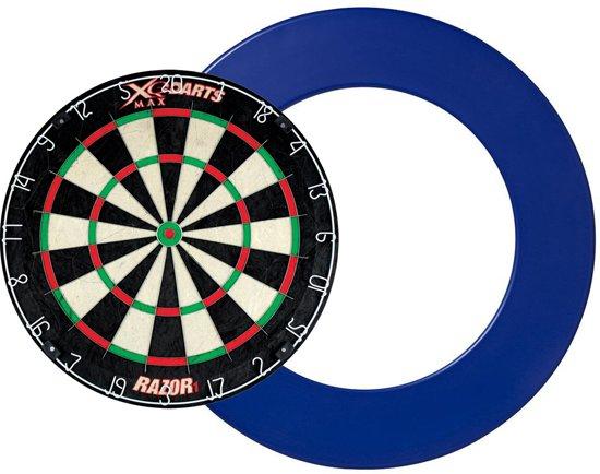 Dragon darts - XQ Max Razor 1 PRO - dartbord - inclusief - dartbord surround ring - blauw - dartbord bescherm ring