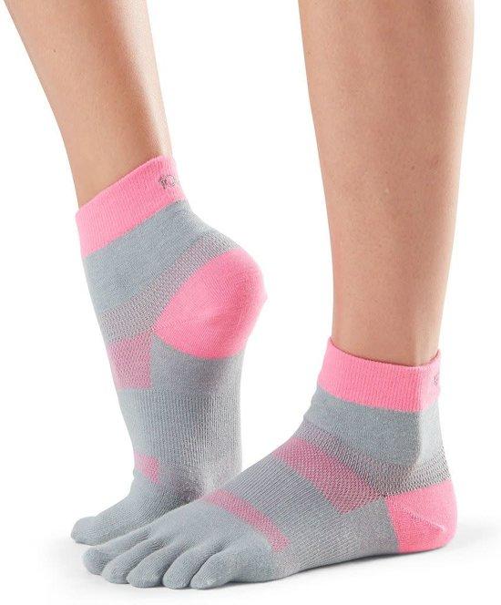 Hardloop TeenSokken ToeSox Tenen Minnie Flush - grijs/roze