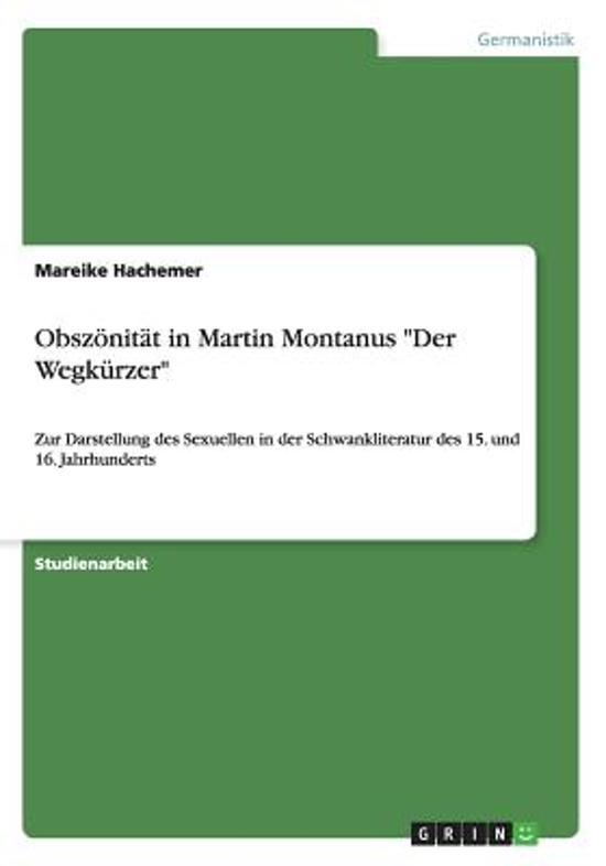 bol.com | Obszonitat in Martin Montanus Der Wegkurzer, Mareike ...
