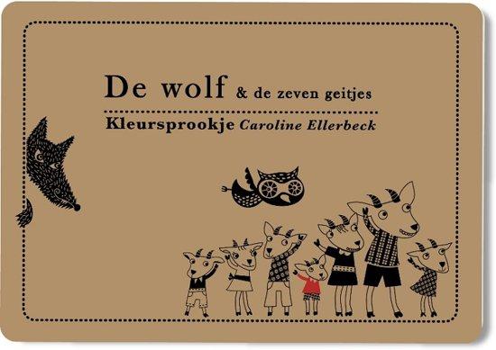 De wolf & de zeven geitjes : kleursprookje Boek omslag