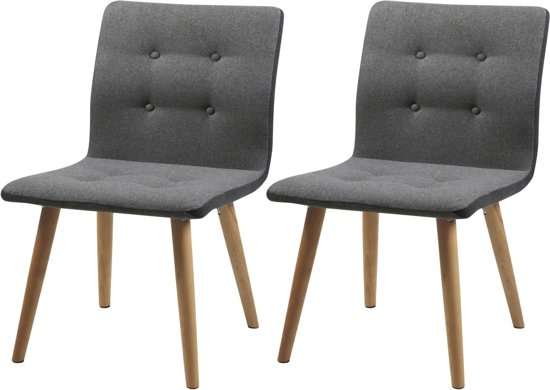 Lichtgrijs Eiken Meubels : Bol designs set stoelen felizia stof lichtgrijs