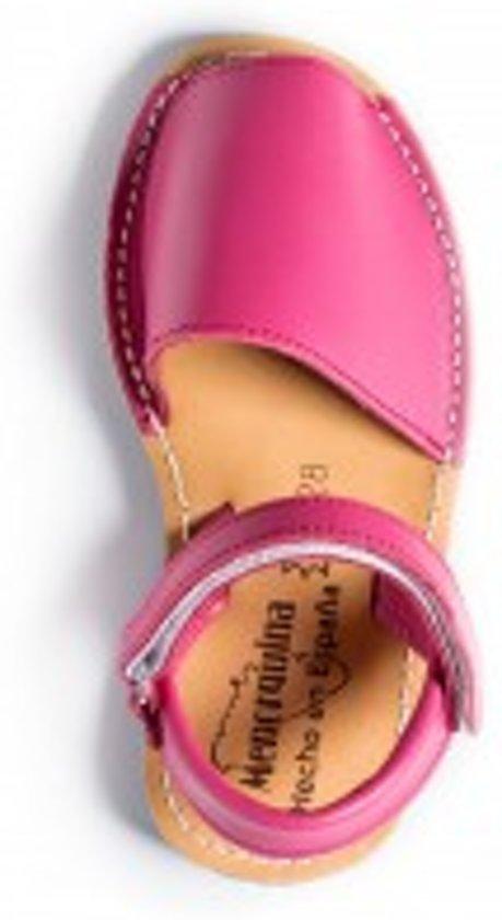 cc64e5dc89c40e Menorquina-spaanse-sandalen-avarca-kinder-roze-enkelbandje-maat 32