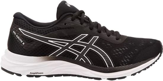 Asics Gel-Excite Sportschoenen Dames - Black / White - Maat 40