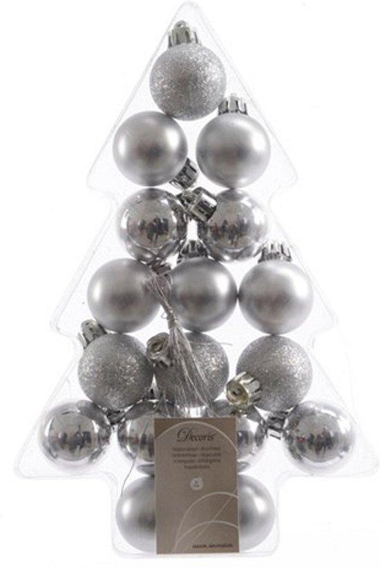 Wonderbaar bol.com | Mini kerstballen zilver 17 stuks 3 cm FP-86