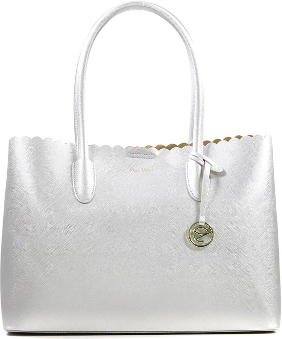 Kisses of Pearl - Shopper - Metallic - 3 verdeelvakken - Ruim - Shopper - Zilver