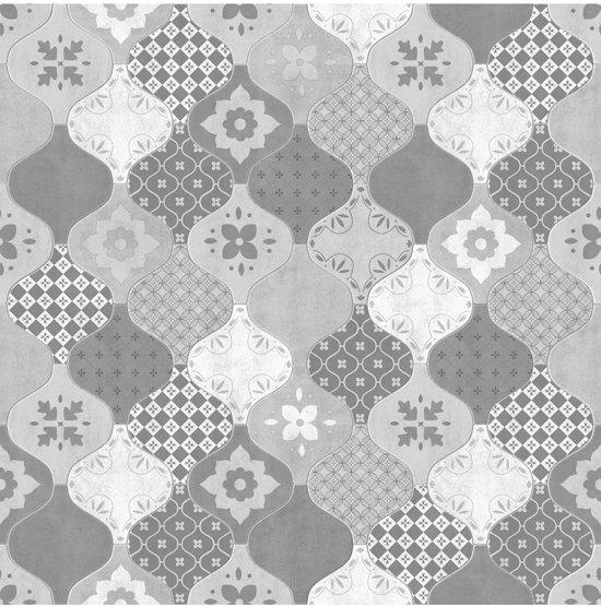Home tegels grijs behang (vliesbehang, grijs)