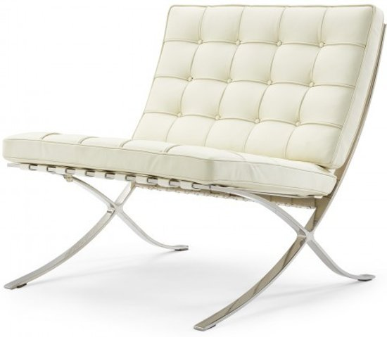 Interesting barcelona chair premium creme with barcelona for Eames lounge chair tweedehands