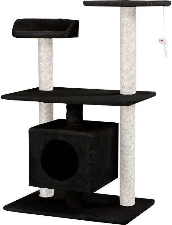 [en.casa]® Krabpaal - krabmeubels - krabspeelgoed - Zwart