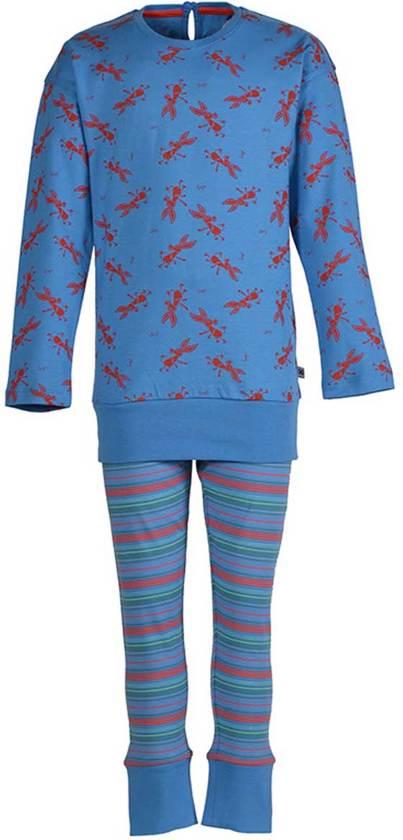 Woody 172-1-POP-S/948 - pyjama - blauw - maat 176