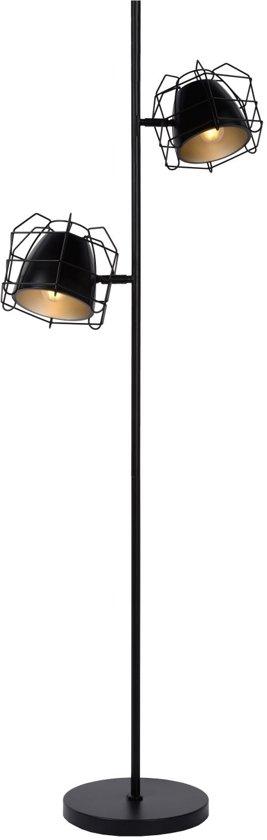 Lucide GRID - Vloerlamp - E14 - Zwart