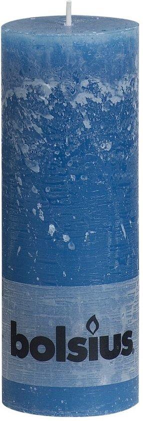 Bolsius Stompkaars Stompkaars 190/68 rustiek Zeeblauw