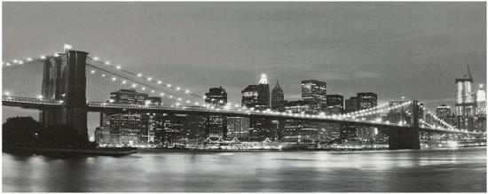 Canvas op houten frame - Brooklyn Bridge New York met 15 leds