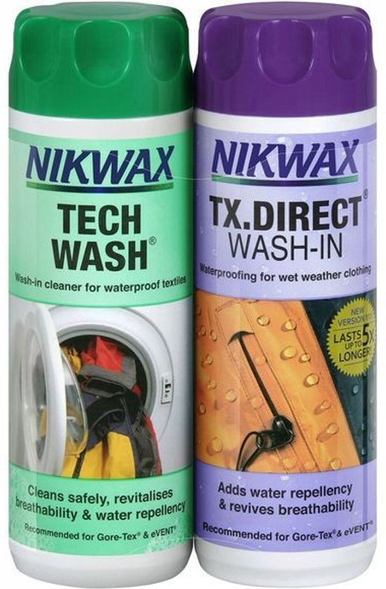 Nikwax Wasmiddel Twin Techwash & TX Direct 2x 300 ml - waterafstotend