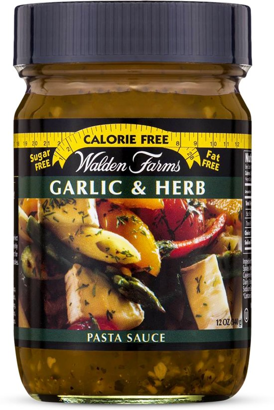 Walden Farms Pasta saus - 1 pot - Garlic & Herb
