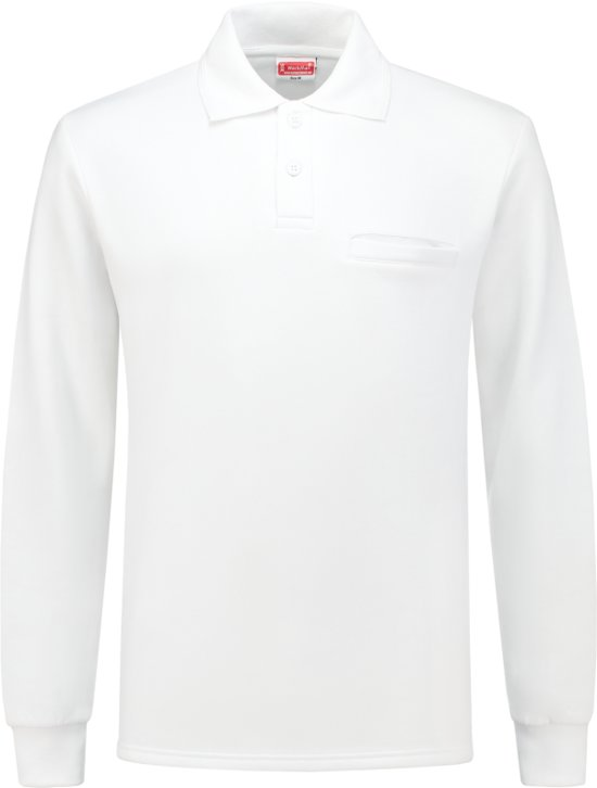 Workman Polosweater Outfitters - 2301 wit + borstzakje - Maat 3XL