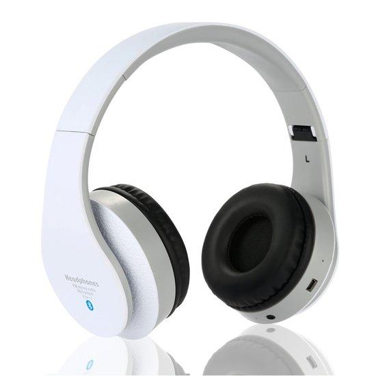 Wireless bluetooth headset STN12 Met Fm radio en Geheugen Poort wit