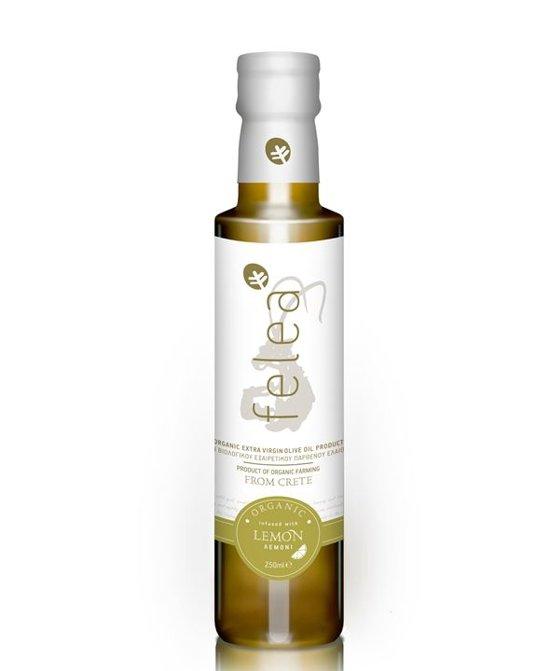 Biologische extra vierge olijfolie met Citroen van Felea 250ml