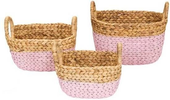 Kidsdepot Ty set van 3 manden Pink