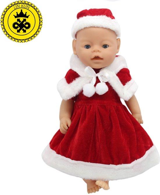 48692d09aba5c7 Kerstjurkje voor baby born - kerst poppenkleding