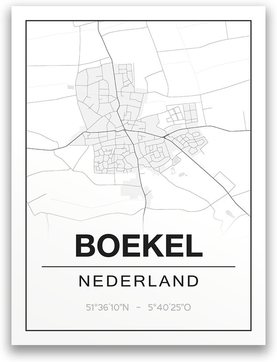Poster/plattegrond BOEKEL - A4