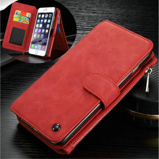 80794c7a010 Caseme luxe portemonnee hoes iPhone 6(s) rood