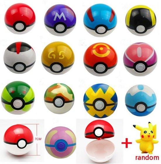 Afbeelding van Pokemonbal, pokebal + figuur 144 varianten beschikbaar Pokemon bal Pikachu Eevee Sword Shield speelgoed cadeau kerst sinterklaas