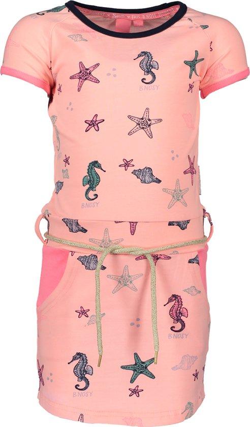B. Nosy Meisjes Jurk - Bunny pink melee - Maat 134/140