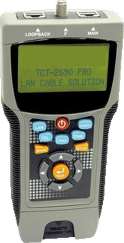 RADI meet-/testapparatuur v/comm.tech, uitv UTP/Coax/FTP