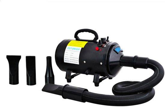 Krachtige Hondenföhn/ Waterblazer met Draaiknop om  Overtollig Water en Stof Snel Uit de Vacht te Blazen   Verstelbare Vermogen standen (500W tot 2400W) en Verstelbare Temperatuur
