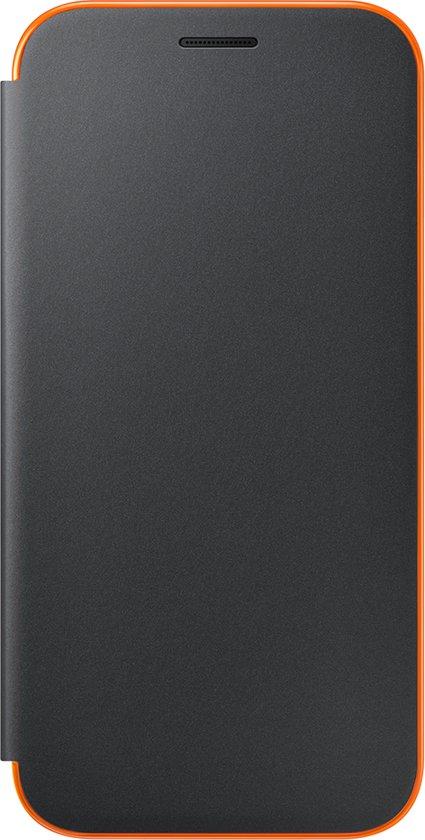 Samsung neon flip cover - zwart - voor Samsung A520 Galaxy A5 2017