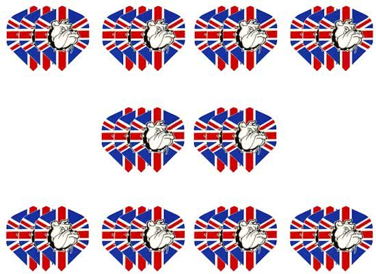 10 sets (30 stuks) Dragon darts Britse vlag bulldog dart flights – darts flights
