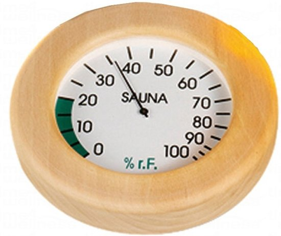 Hygrometer rond hout