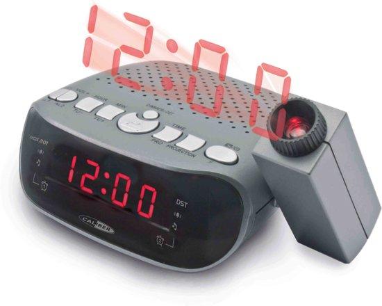 Caliber HCG201 -  Wekkerradio met projectie - Zwart