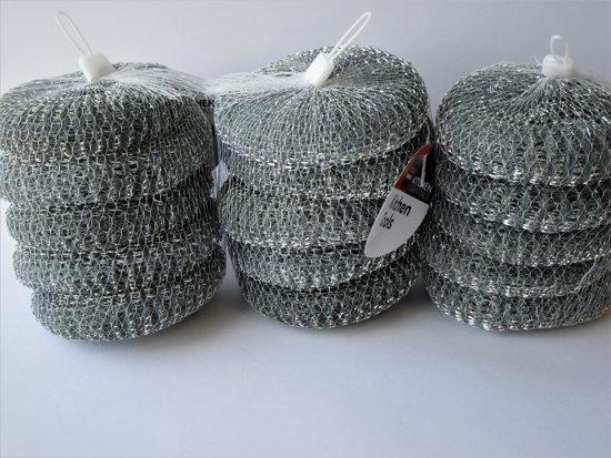 Schuurspons - Metaalspons - Pannenspons  3 sets a 5 stuks  11 x 3cm