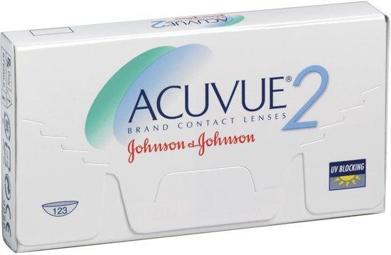 +4,00 ACUVUE 2 - 6 pack - Weeklenzen - Contactlenzen - BC 8,30