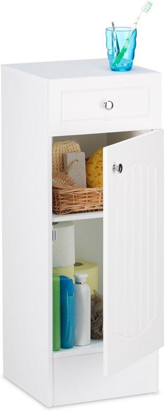 bol.com | relaxdays badkamerkast MDF hout - kast wit voor badkamer ...