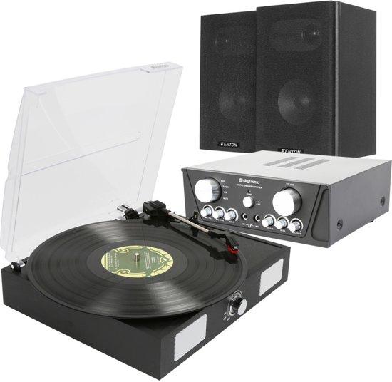Stereo Set Met Platenspeler Fenton Stereo Installatie Met Platenspeler Inclusief Kabels