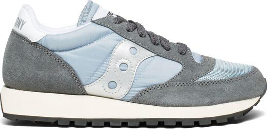 Sneakers Dames Saucony blue white Grey Jazz 36 Vintage Original Maat q6UwItU