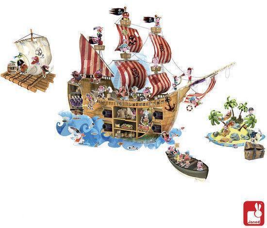 Muurstickers Kinderkamer Piraat.Bol Com Janod Muursticker Piraten Magnetisch