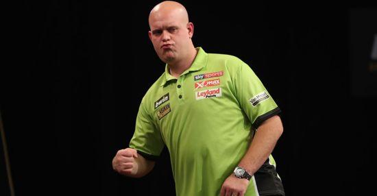 Michael van Gerwen 100% Brass 23 gram inclusief 3 sets van Gerwen darts flights en darts shafts