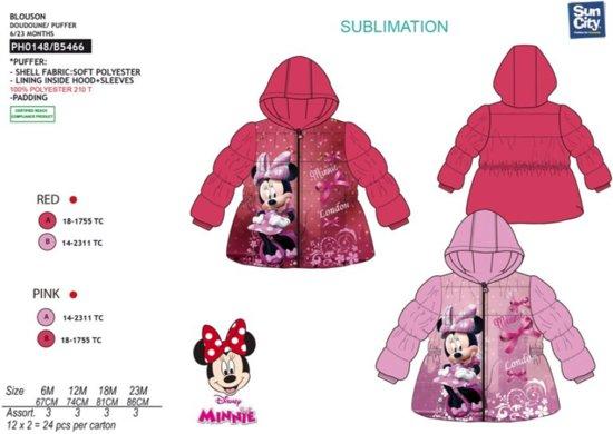 Disney Baby Minnie Mouse winterjas donker roze 6 maanden (67cm)