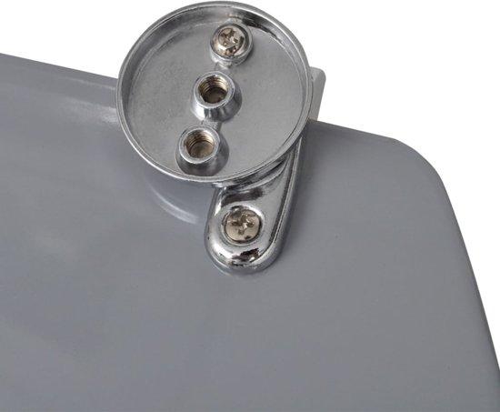 vidaXL Toiletbril met hard-closedeksel 2 st MDF stenen