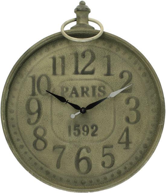 HD Collection Paris - Klok - Rond - Metaal - Ø35 cm - Bruin