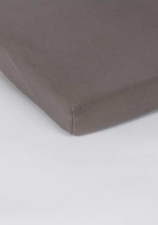 Nightlife Jersey Topper Hoeslaken Taupe-200 x 210/220 cm