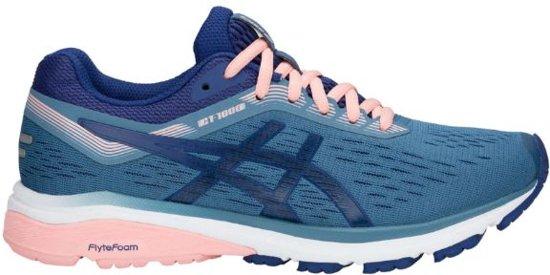 Asics GT-1000 7 Sportschoenen - Maat 42.5 - Vrouwen - blauw/donker blauw/roze
