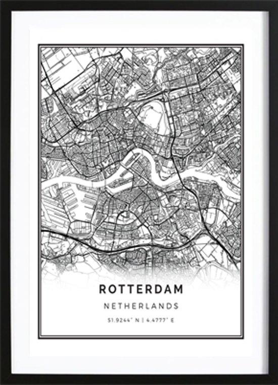 Zeer bol.com | Rotterdam Kaart Poster - Wallified - Poster - Wall Art &FH47