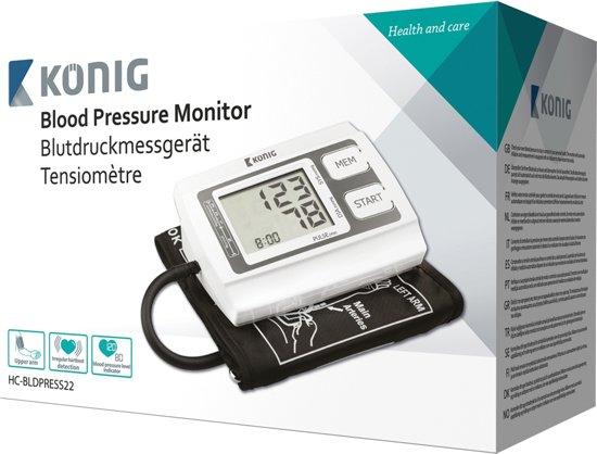 König HC-BLDPRESS22 Bovenarm Automatisch bloeddrukmeter