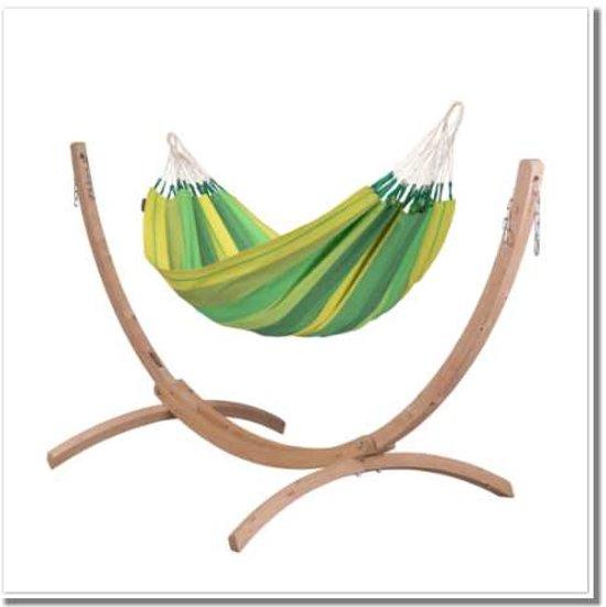 Hangmatset: 1-persoons hangmat  ORQUIDEA jungle + Standaard voor 1-persoons hangmat  CANOA