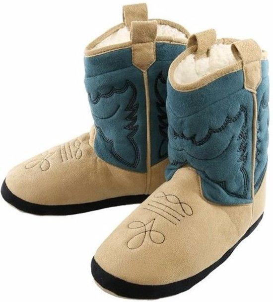 Blauwe cowboylaars sloffen voor jongens S (21-26) - pantoffels
